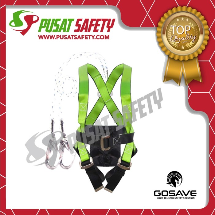 Foto Produk Full Body Harness Double Big Hook Eco Fit GoSave dari Pusat Safety Online
