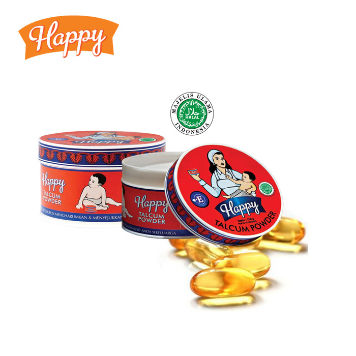 Foto Produk Happy Talcum Powder (Bedak) 150gr dari IntiCosmetic