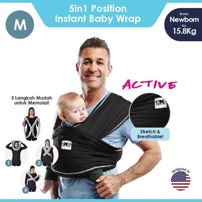 Foto Produk Baby K'tan Baby Carrier Active Black M dari Baby Ktan Official