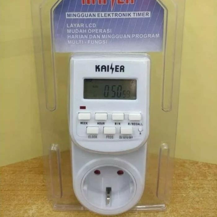 Foto Produk stop kontak timer kaiser digital analog kaiser dari wewe - electric