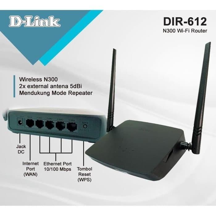Foto Produk D-Link Routers 4 Port DIR-612 DIR 612 D-Link Router Wireless N300 dari PojokITcom Pusat IT Comp