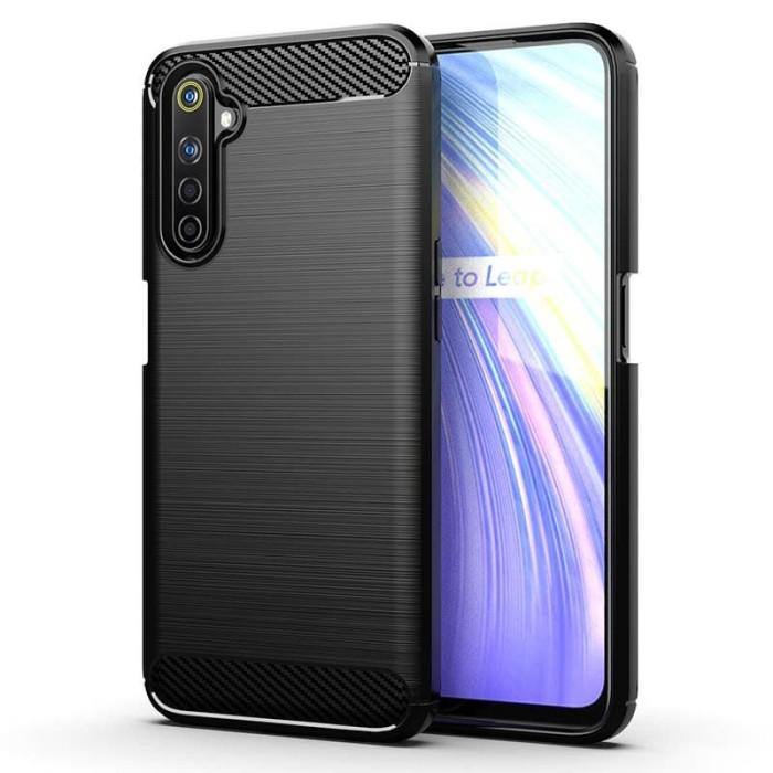 Foto Produk Armor Carbon TPU Case Realme 6 Pro - Casing Black Soft Cover Hitam dari Logay Accessories