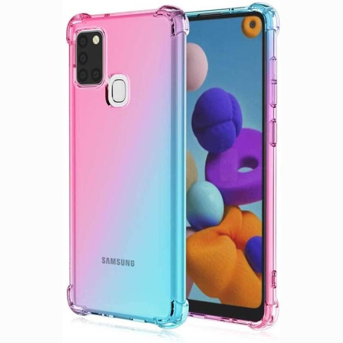 Foto Produk Shock Gradient Case Samsung Galaxy A21S - Original Clear Soft Bening dari Logay Accessories