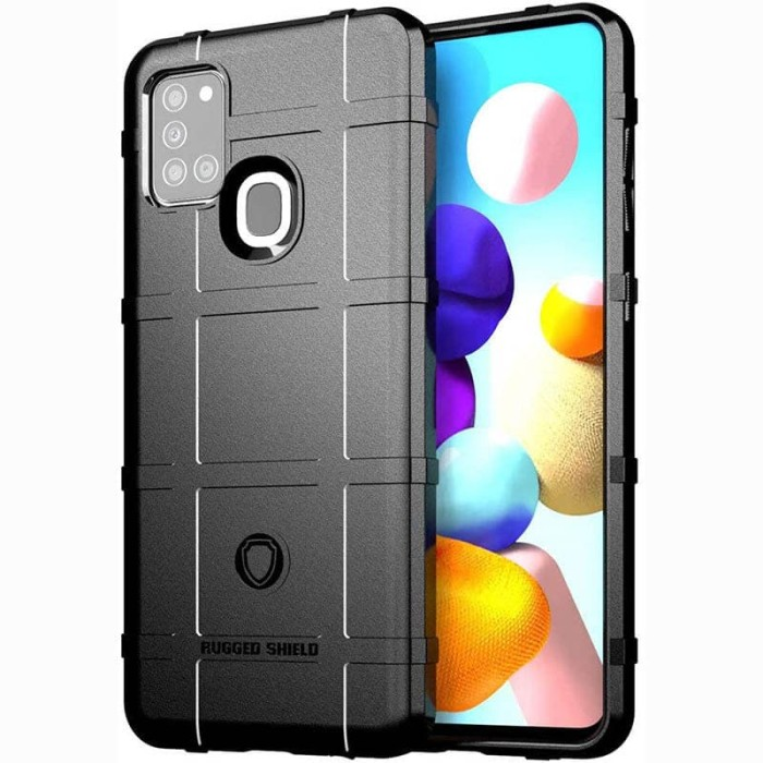 Foto Produk Armor Shield TPU Case Samsung Galaxy A21S - Casing Black Soft Cover dari Logay Accessories