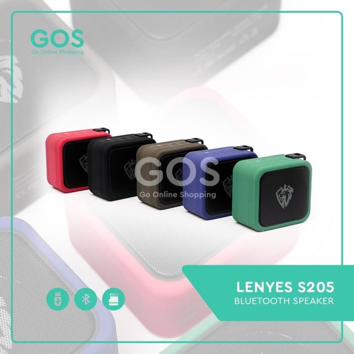 Foto Produk SPEAKER BLUETOOTH PORTABLE WATERPROOF LENYES S205 TWS DAN NFC dari GOS Aksesoris HP