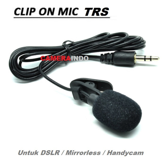 Foto Produk mic clip on 3.5mm Smartphone Laptop Tablet PC - MIC TRS ONLY dari cameraindo