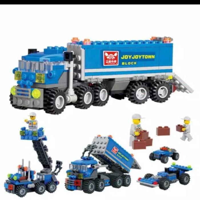 Foto Produk Mainan Anak DIY Lego susun mobil Truck+figure isi163pcs. dari AUTO KID II