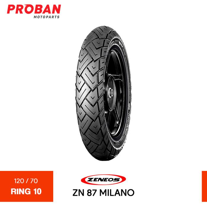 Foto Produk ZENEOS TL ZN87 MILANO 120/70-10 Ban Motor Tubeless dari Proban Motoparts