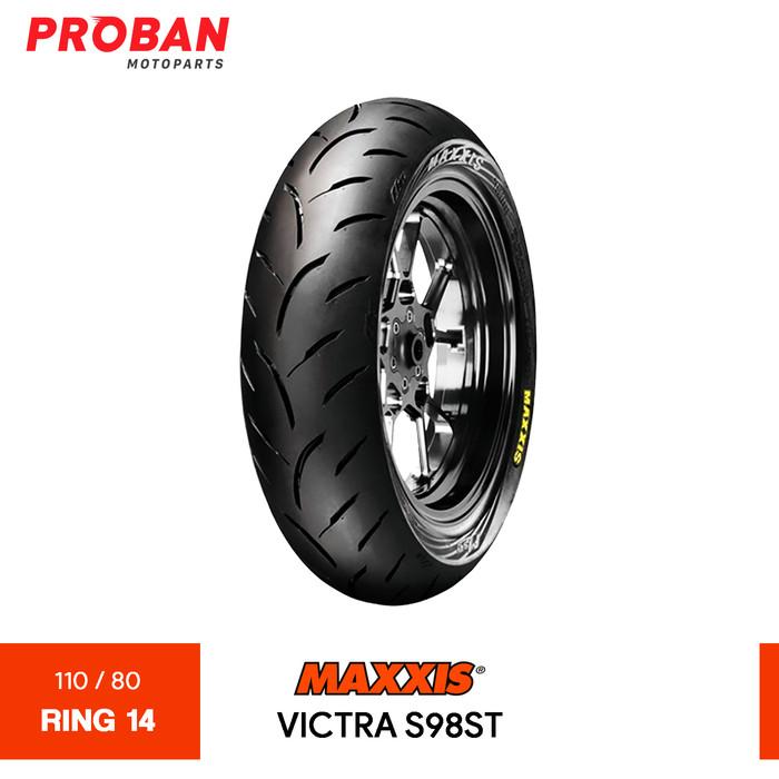 Foto Produk Ban Motor MAXXIS TL VICTRA S98ST 110/80 Ring 14 Tubeless dari Proban Motoparts