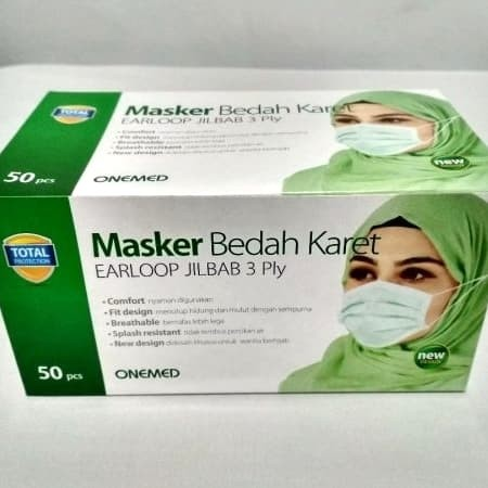 Foto Produk Masker New ONEMED Earloop Jilbab ready dari REJODADI1