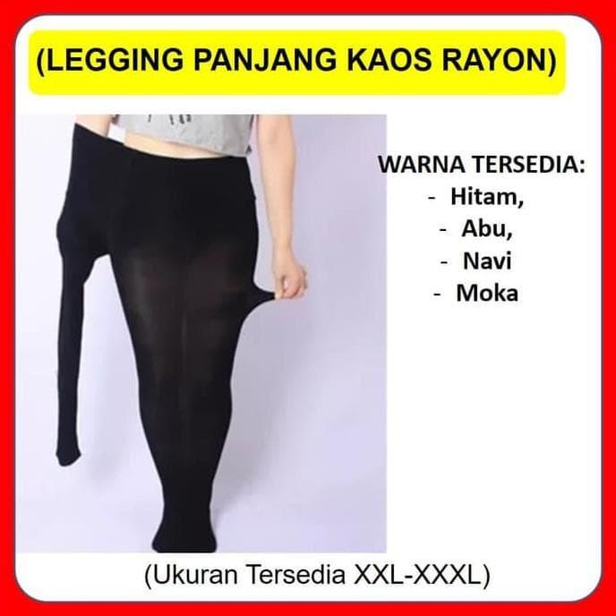 Jual Diskon Hari Ini Celana Legging Panjang Kaos Soft Rayon Ukuran Jumbo Jakarta Timur Naadin Storee Tokopedia