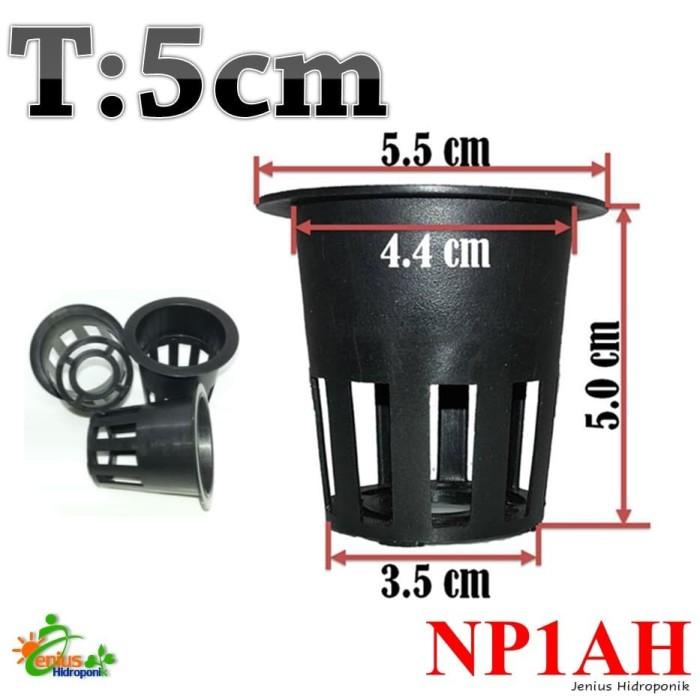 Foto Produk Net Pot 5 cm Hitam / Netpot Hidroponik / Net Pot Hidroponik Tebal dari Jenius Hidroponik