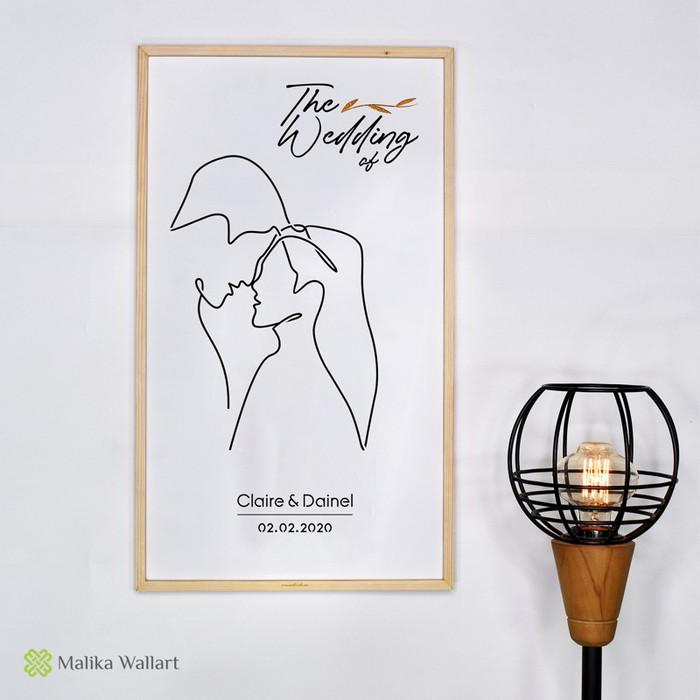 Foto Produk Kado Pernikahan Hiasan DindingLaser Cut - Custom - Putih dari malikawallart