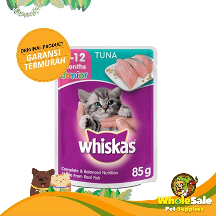 Foto Produk WHISKAS JUNIOR TUNA 85GR dari Wholesale Pet Supplies