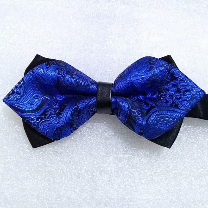 Jual Aksesoris Bow Tie Wedding Blue Black Dasi Kupu Pesta Kota Surabaya Ncs Blue Tokopedia