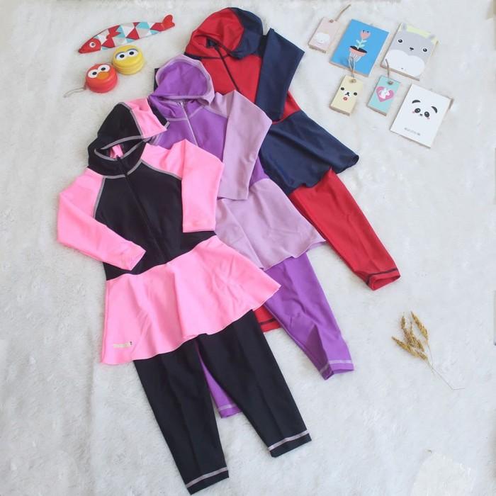 Foto Produk Baju Renang Hijab - Merah Muda, S dari Tomomi Baby Wear
