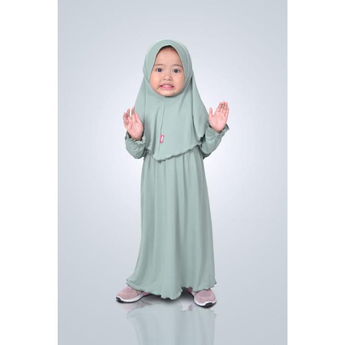 Foto Produk HAURA BUSANA Baju Gamis Anak Perempuan Syari Wardah - XS dari HAURA BUSANA