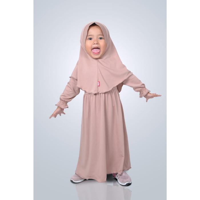 Foto Produk HAURA BUSANA Baju gamis Anak perempuan Syari Mocca - XS dari HAURA BUSANA