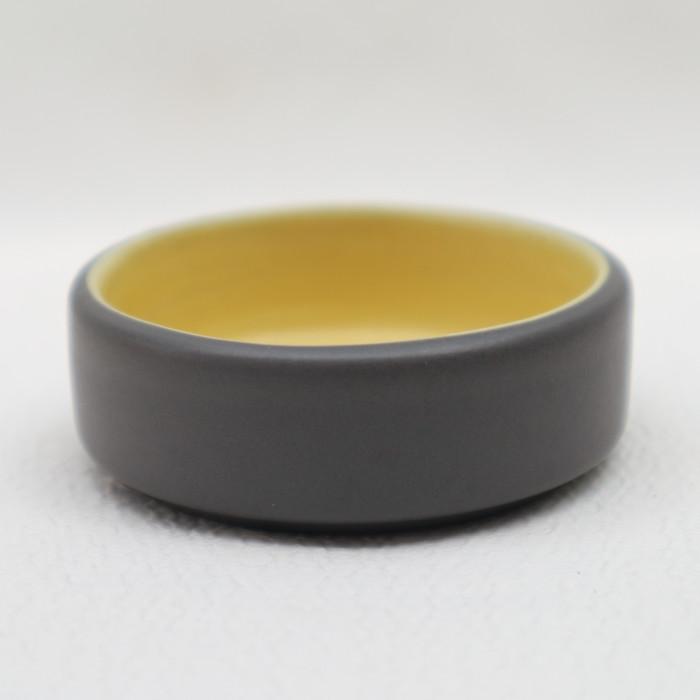 Foto Produk Artisan Ceramic | Yellow Grey Matt Sauce Dish | Tempat Saus Keramik dari Artisan Ceramic