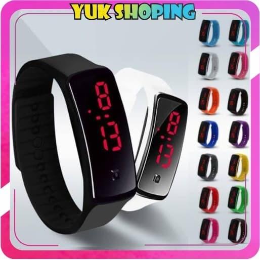 Foto Produk ✧YUKSHOPING✧ JT006 Jam Tangan Digital Pria Wanita Led Watch Strap - Kuning dari yukshoping4