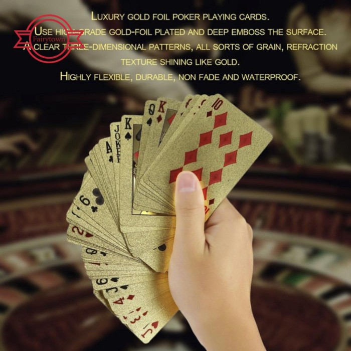 Jual 54pcs 24k Gold Foil Pound Poker Game Cards Star Games For Friends Jakarta Barat Memeysiska Shoope Tokopedia