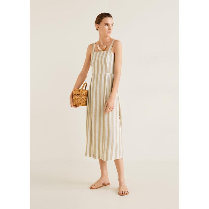 Foto Produk MANGO - DRESS EMILIA - BEIGE, L dari Mango Outlet