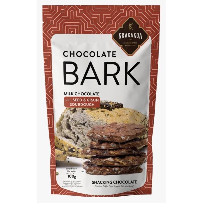 Foto Produk Chocolate Bark, Milk Chocolate with Seed & Grain Sourdough dari Krakakoa Official
