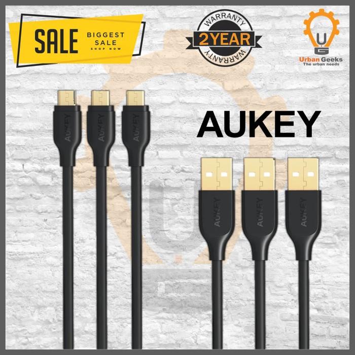Foto Produk Aukey CB-MD3 3pcs Micro USB Cable Gold Plate Connector alt Anker dari Urban Geeks