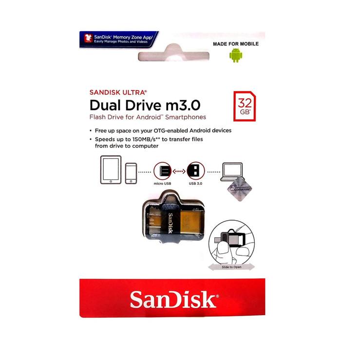 Foto Produk Sandisk Flashdisk OTG 32 GB USB 3.0 Ultra Dual USB Drive dari officemart