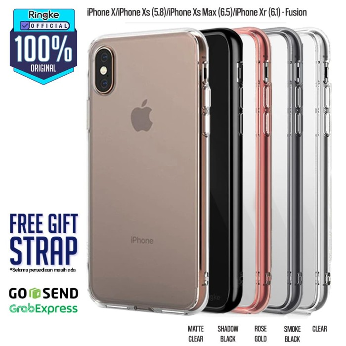 Foto Produk Ringke iPhone Xs / Xs Max / Xr Fusion Anti Crack Anti Drop Original - Xr-MatteClear dari Official Ringke Partner