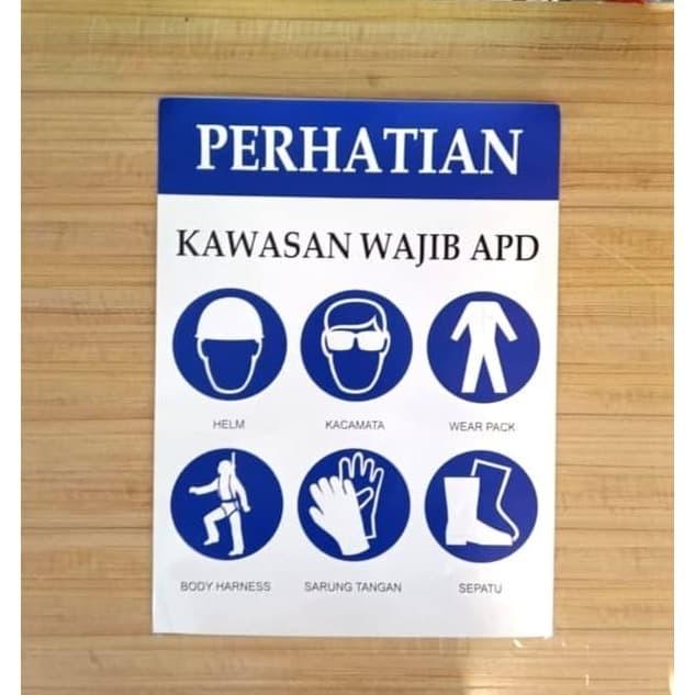 Jual Stiker Sign Safety Kawasan Wajib Apd Sticker Safety Rambu K3 30x40cm Jakarta Barat Safety Glow Tokopedia