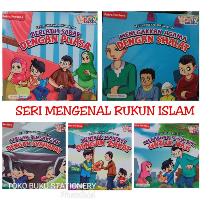 Foto Produk PAKETAN ISI 5 BUKU CERITA SERI MENGENAL RUKUN ISLAM dari Toko Buku dan Stationery