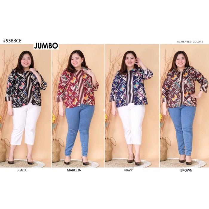 Foto Produk Atasan Jumbo Batik Mix Baju Wanita Bigsize dari Paphika