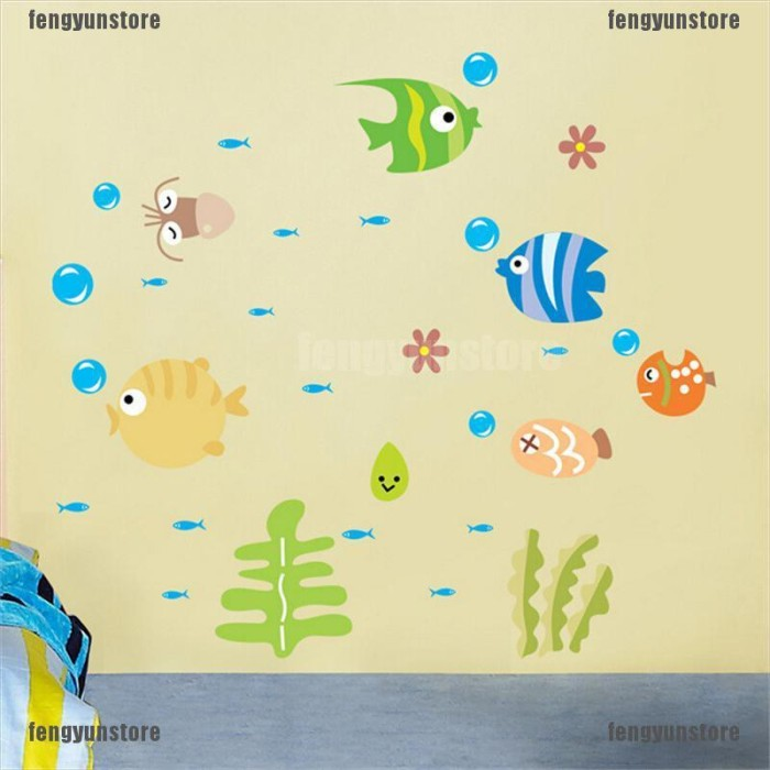 Jual Stiker Dinding Desain Kartun Ikan Laut Imut Untuk Kamar Bayi Kab Malang Murcel Comp Tokopedia