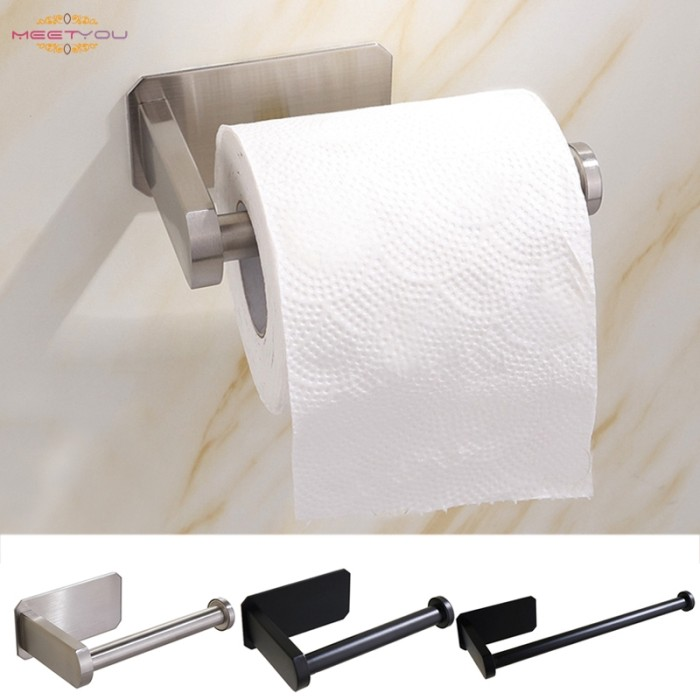 Jual Self Adhesive Toilet Paper Holder Toilet Roll Stick On Wall Kab Malang Murcel Comp Tokopedia