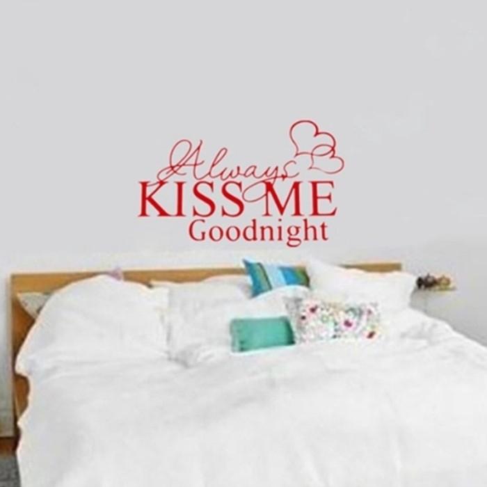 Jual Always Kiss Me Good Night Love Quote Wall Stickers Bedroom Removable Jakarta Barat Hayla Shop9 Tokopedia
