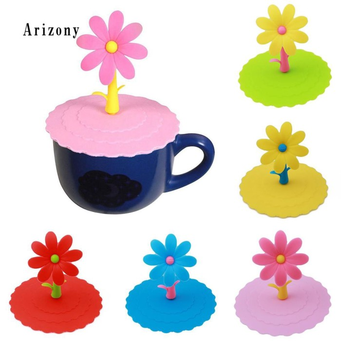Jual 1pc Cute Dustproof Reusable Silicone Cartoon Flower Mug Cup Bow Jakarta Barat Pixayo Store Tokopedia