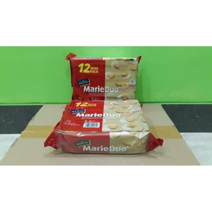 Foto Produk Biskuit Regal Marie Duo Sachet Krim Kacang (12 x 20gr) dari Sumber Berkah Boga
