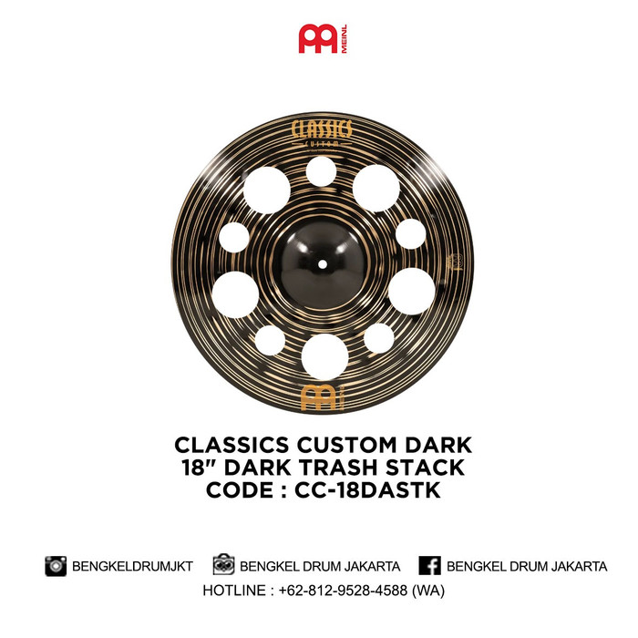 "Foto Produk Meinl Cymbal CLASSICS CUSTOM DARK 18"" DARK TRASH STACK - CC-18DASTK dari Bengkel Drum Jakarta"