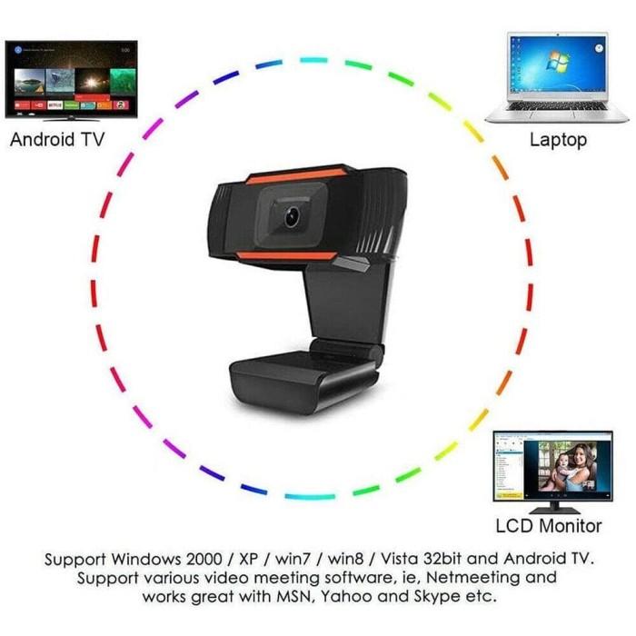 Foto Produk X8 HD 480P Webcam Autofocus Web Camera Cam For PC Laptop Desktop dari Mix acc88