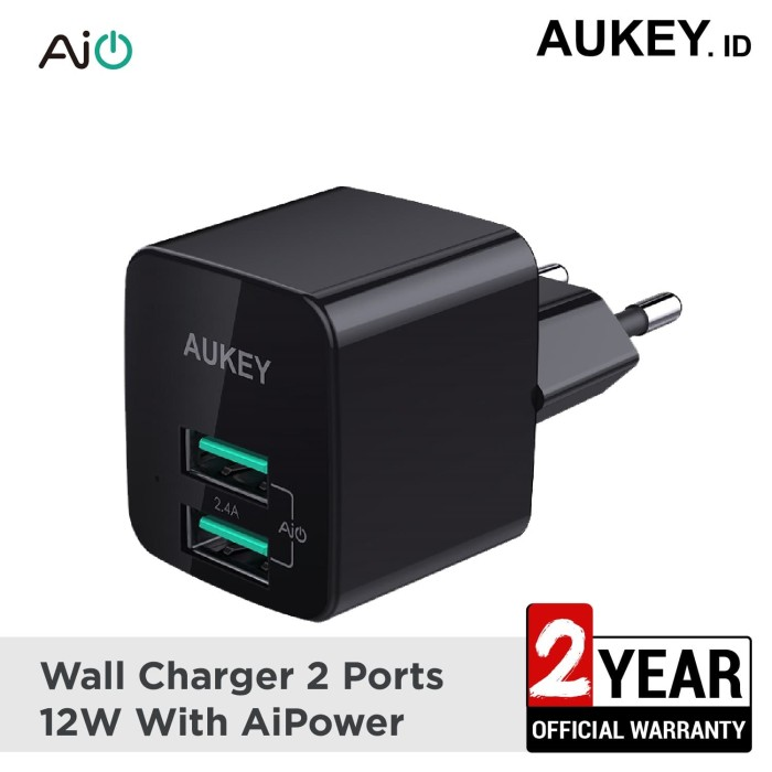 Foto Produk Aukey Charger 2 Port 12W with AiQ - 500284 dari AUKEY