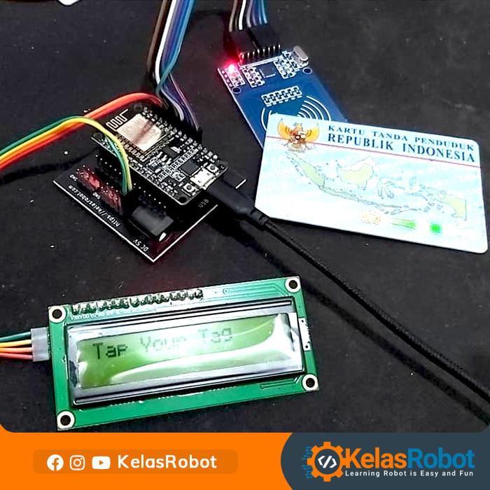 Foto Produk IOT KIT - NodeMCU RFID Absensi (LCD) Database MySQL PHP - Basic dari Kelas Robot