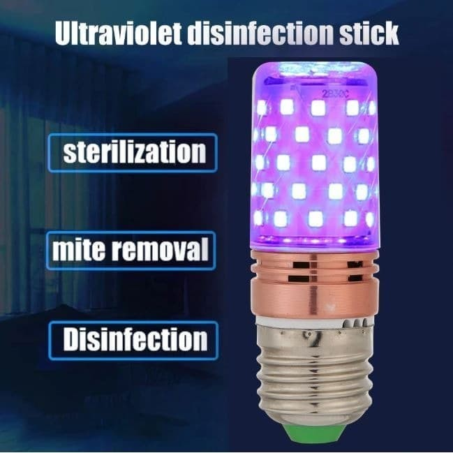 Foto Produk UVC Sterilization Lamp 60 LED Disinfection Light Bulb Sterilizer E27 dari lapakdiskon
