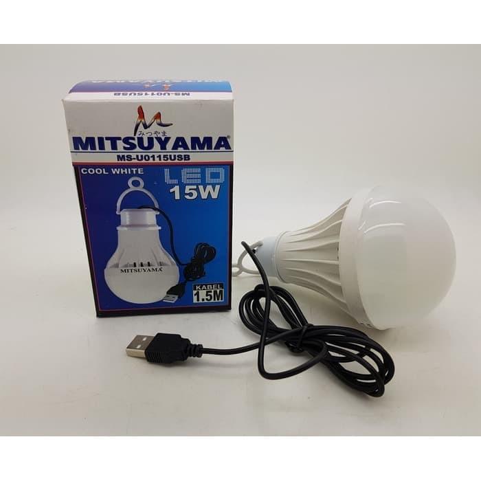 Foto Produk Bohlam USB 15w Lampu LED USB 15 watt Merk MITSUYAMA dari grosirltc