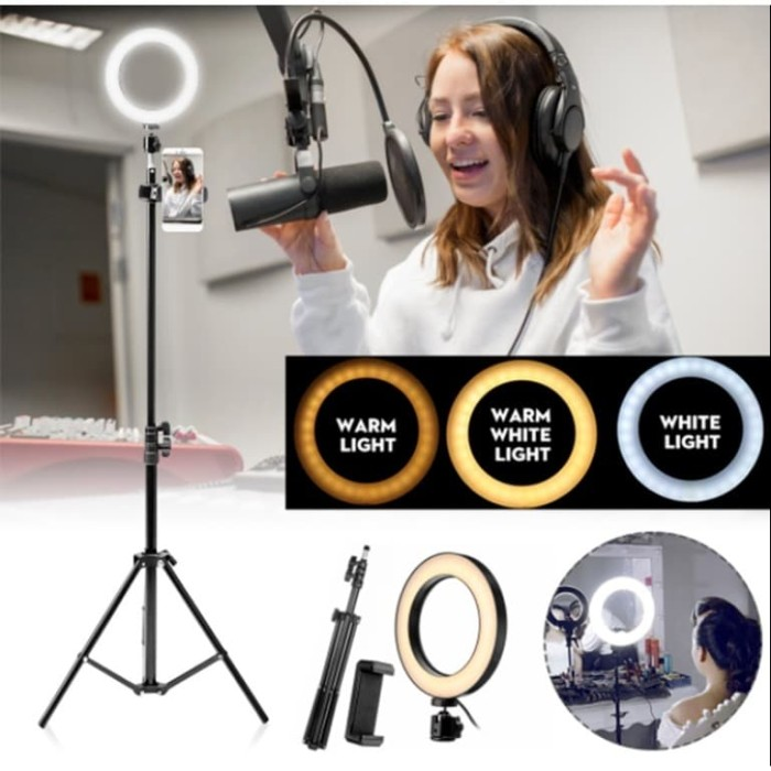 Foto Produk Ring Light 6 inch + Light Stand 200cm Ring Light Makeup & Selfie dari mysmiley