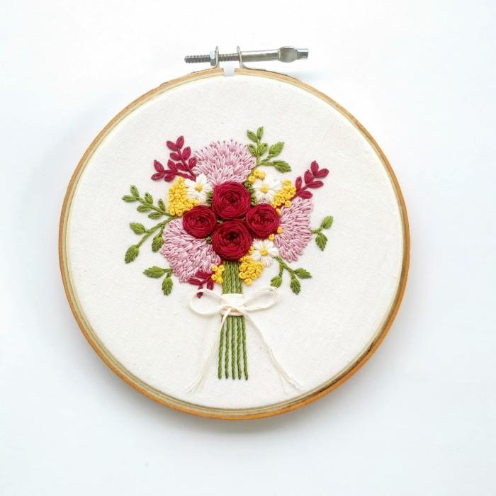 Foto Produk SPRING BOUQUET - DIY Embroidery Kit dari Hoopies Art