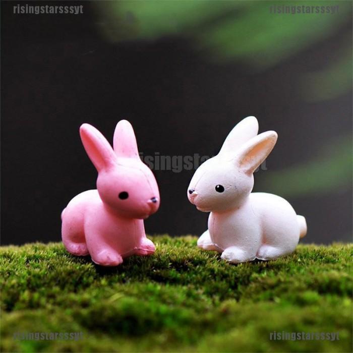 Jual Rsid 2pcs Easter Rabbits Cute Bunny Ornament Resin Fairy Garden Jakarta Barat Vendif Tokopedia