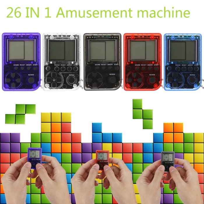 Jual Mini Retro Tetris Game Console Students Pendant Recreational Jakarta Selatan Style Altra Tokopedia