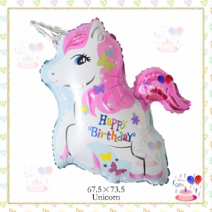 Jual Mise Balon Unicorn Happy Birthday Pink Kuda Little Pony Kartun Jakarta Barat Mise Alice Tokopedia