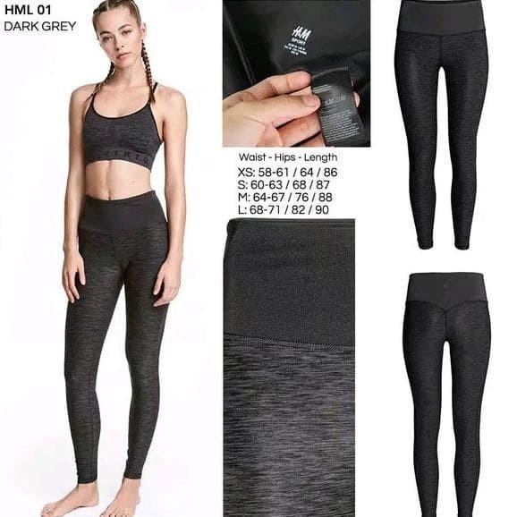 Jual Celana Legging H M Original Celana Olahraga Celana Senam Jakarta Barat Hilda Toko Tim Tokopedia